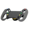 GT3 racing wheel with 8 buttons and 2 switches with paddleshift left frontview